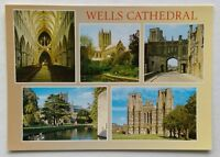 Wells Cathedral 5 Views Postcard (P343)
