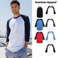 American Apparel ¾ sleeve raglan T-shirt (BB453) Unisex soft baseball style tee