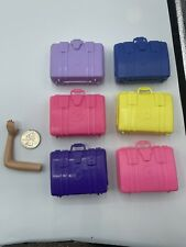 Barbie Doll Fashion Accessory LOT TRAVEL VACATION SUITCASE LUGGAGE OPEN CLOSE