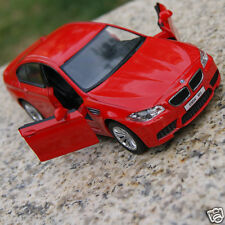 BMW M5 5 Inch Alloy Diecast Model Cars Toy Car Gifts Sound & Light Red New