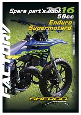 Sherco Parts Manual Book Chassis & Engine 2016 Factory 50cc Enduro Supermotard