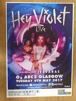 Hey Violet + Jessarae - Glasgow may 2017 live music show tour concert gig poster