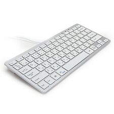 GMYLE USB connection Wired slim compact keyboard 78 key Japanese array white an