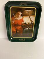 """Coca-Cola Santa Claus Metal Tray Reproduction 10 1/2"""" x 13"""""""