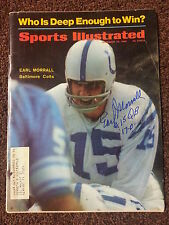 EARL MORRALL SIGNED AUTOGRAPHED SPORTS ILLUSTRATED EXACT PROOF DOLPHINS COLTS