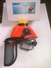 chainsaw forestry combination protective helmet ABS stainless  mesh