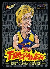 2014 Select Champions West Coast Eagles Firepower Caricature Scott Selwood FC 54