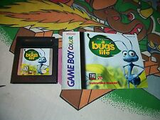 A Bug's Life and Manual Game Boy Game Nintendo Gameboy Color