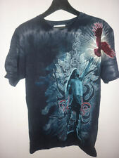 T SHIRT maglietta INDIANO fantasy sciamano M abbigliamento uomo donna metal rock