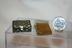 Miniature Dollhouse French Scarf Fancy Box & Tissue Paper 1:12 NR