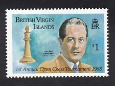 Brit Virgin Is 1988 - SG677 - Chess $1 - Mint previous hinged (C9F)