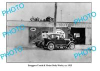 OLD LARGE PHOTO OF ENNOGGERA GARAGE c1925 MOBIL PETROL BOWSER