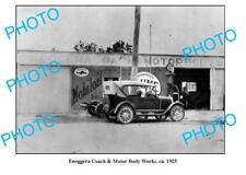 OLD LARGE PHOTO OF ENNOGGERA GARAGE c1925, MOBIL PETROL BOWSER