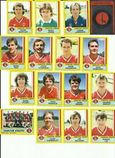 PANINI 1987 - CHARLTON ATHLETIC -16 STICKERS 39-53