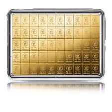 Goldbarren 50 x 1 Gramm Tafelbarren Heimerle + Meule