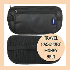 Travel Passport Waist Money Security Bag Pouch Belt Secure Ticket & Card Wallet