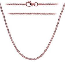 Rose Gold Plated .925 Sterling Silver Popcorn Chain 1.6mm Lobster Clasp 12-36""
