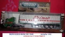 MERCEDES BENZ SK 1948, Transports SULSER Camion Semi Remorque au 1/43 Neuf