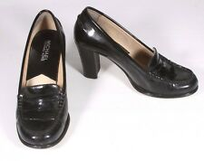 Michael Kors Black Patent Leather Bayville Loafer Pumps Size 6M
