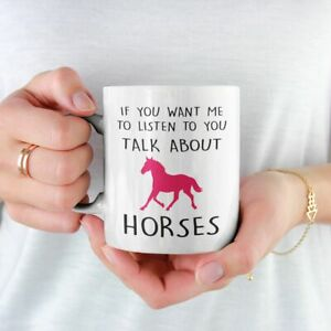 IF YOU WANT ME TO LISTEN TO YOU TALK ABOUT HORSES MUG COASTER FREE P&P CHRISTMAS