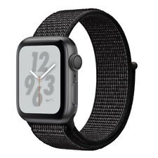 Apple Watch Series 4 Nike+ 44mm Aluminiumgehäuse in Space Grau mit Sport Loop in Schwarz (GPS) - (MU7J2FD/A)