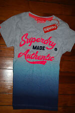 "NEW Women's SuperDry Japan ""Made Authentic"" Gradient Fade T-Shirt (Medium)"