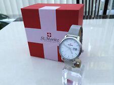 Rotary St. Moritz Hecho En Suiza Reloj para Hombre Malla Pulsera de Cristal Zafiro Slim Rrp £ 250