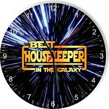 Best House Keeper in the Star Galaxy Wars Space Kitchen Living room Wall Clock