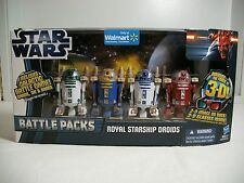 Star Wars Wal-Mart Exclusive Royal Starship Droids Battle Pack with cards ~ MISB