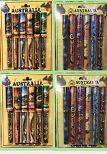 24x Australian Souvenir Pens Sydney Opera House Kangaroo Aboriginal Art New