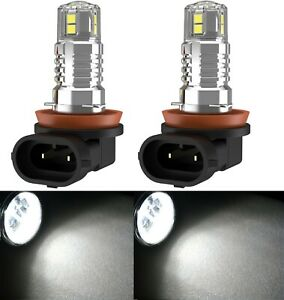 LED 20W H8 White 4300K Two Bulbs Fog Light Replacement Upgrade Stock Lamp OE Fit