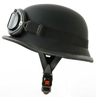 Motorradhelm + Fliegerbrille M 57/58cm Helm für Oldtimer Zündapp KS EMW AWO S51
