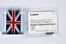 CANON Dioptric Adjustment  Lens E -2 D30 D60 300D-450D 500D 1000D 10D-50D 5Dmk2