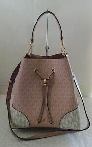 NWT Michael Kors Mercer Gallery Medium Colorblock Conv Bucket Shoulder Bag