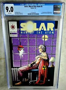 Solar Man Of The Atom #5 Valiant Comics 1992 CGC 9.0 VF/NM WP - Comic L0131