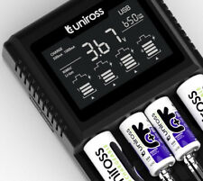 UNiROSS PRO 3T FAST SMART LCD Li-ION/NiMH CHARGER for 18650,RCR123 & AA/AAA/C/D