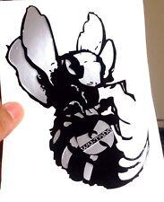 Wu Tang Killer Bee Sticker Decal ( Silver ) Hip Hop, Rap, Urban, Street, Swarm.