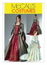 M6097 Sewing Pattern Costume Victorian Two Piece Dress Bustle Peplum Sz 6-12