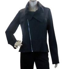 Joseph Ribkoff 163298 Women Charcoal Grey Black Decorative Zip Jacket S 8 US NWT