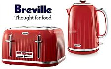 Breville Impressions Kettle and Toaster Set Red Kettle & 4 Slice Toaster New