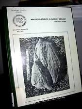 New Developments in Sudbury Geology - Ontario HC 1972 c/w 2 maps - Ex.Lib.