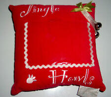 "JINGLE HOWLS RED CHRISTMAS PUPPY PICTURE FRAME 9"" PILLOW"