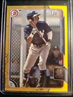 2015 Bowman Prospects Yellow #BP87 Jorge Mateo New York Yankees Rookie Card