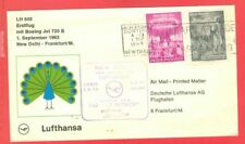 India 2 diff stamp used on LUFTHANSA Flight cover to Germany 1963