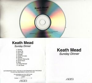 KEITH MEAD Sunday Dinner 2015 UK 11-trk promo test CD