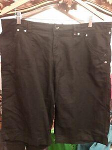 New Look Black Linen Size 14 Shorts Excellent