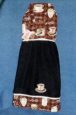 **NEW** Coffee Cappuccino Espresso Black Hanging Kitchen Fridge Hand Towel #845