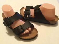 Women's Birkenstock Arizona Black Birko-Flor Sandals Size 41 L10M8