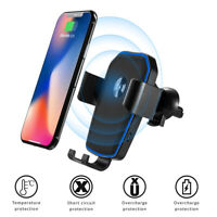 Wireless Car Charger Mount Qi Fast Charging Holder for iPhone 11 Pro Max Samsung