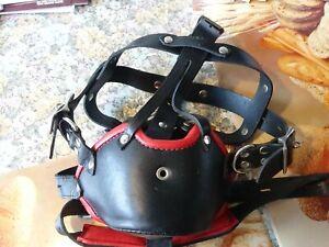 Leder Kopf Harness /  Leather Face Muzzle Head Harness  Sehr selten !